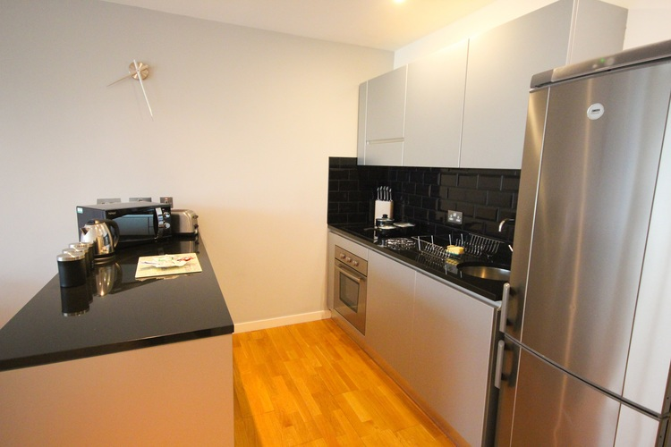 Kitchen at Quayside Loft Apartments - Citybase Apartments