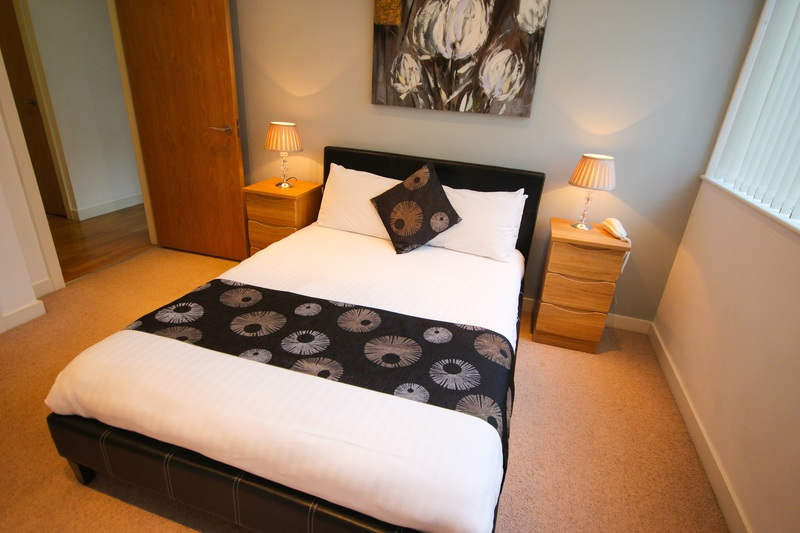 Double bed at Quayside Loft Apartments - Citybase Apartments