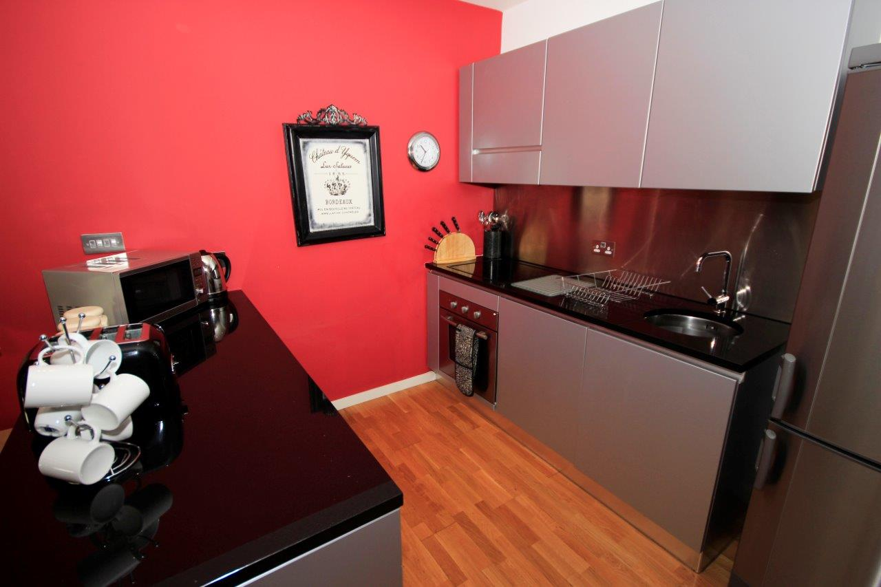 Kitchen area at Quayside Loft Apartments - Citybase Apartments