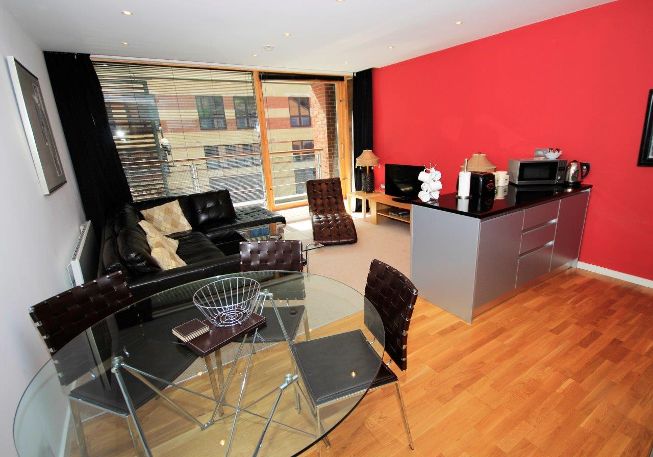 Dining area at Quayside Loft Apartments - Citybase Apartments
