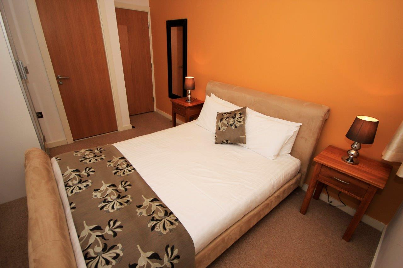 Cosy bedroom at Quayside Loft Apartments - Citybase Apartments