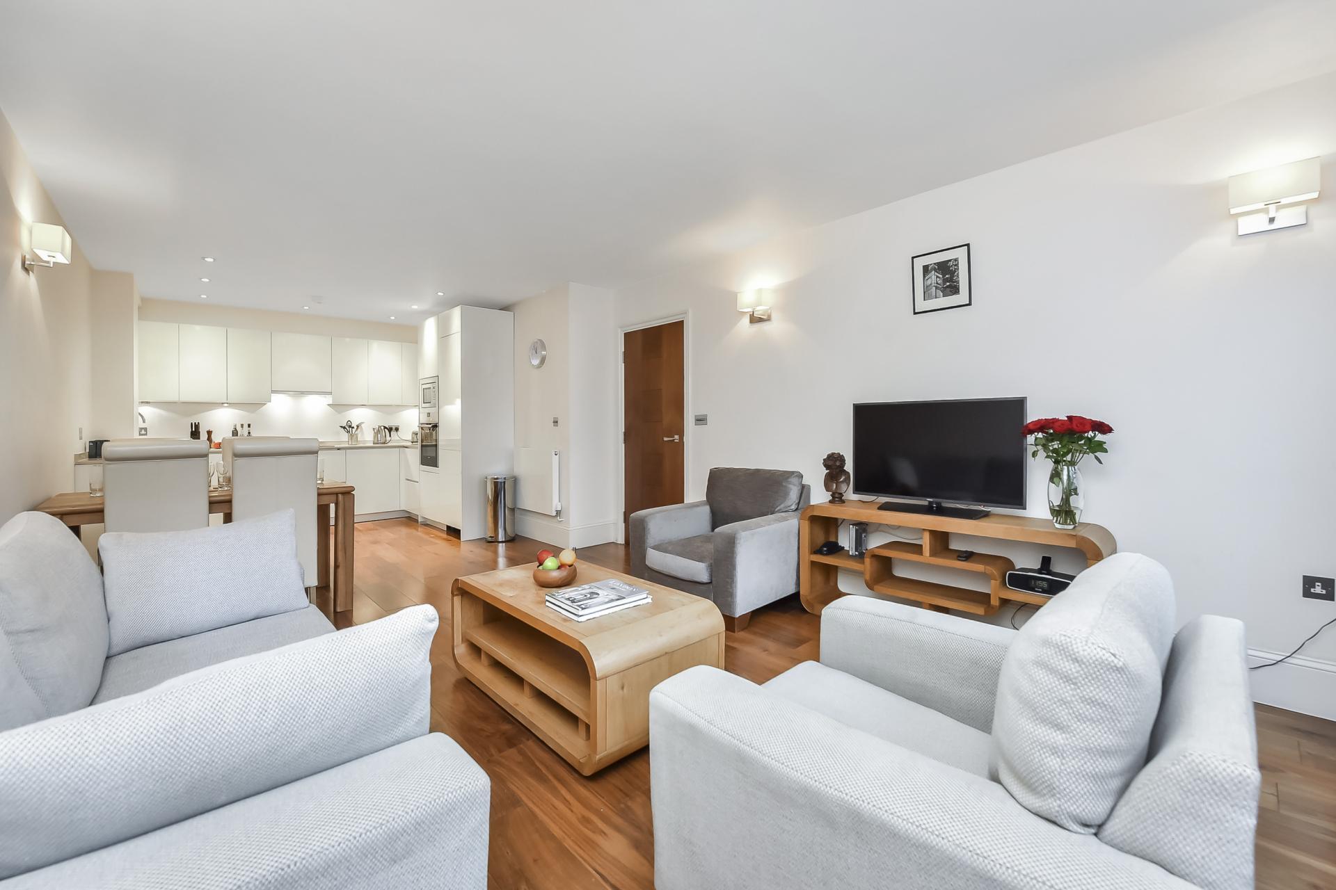 Sofas at Tavistock Place Apartments, Fitzrovia, London - Citybase Apartments