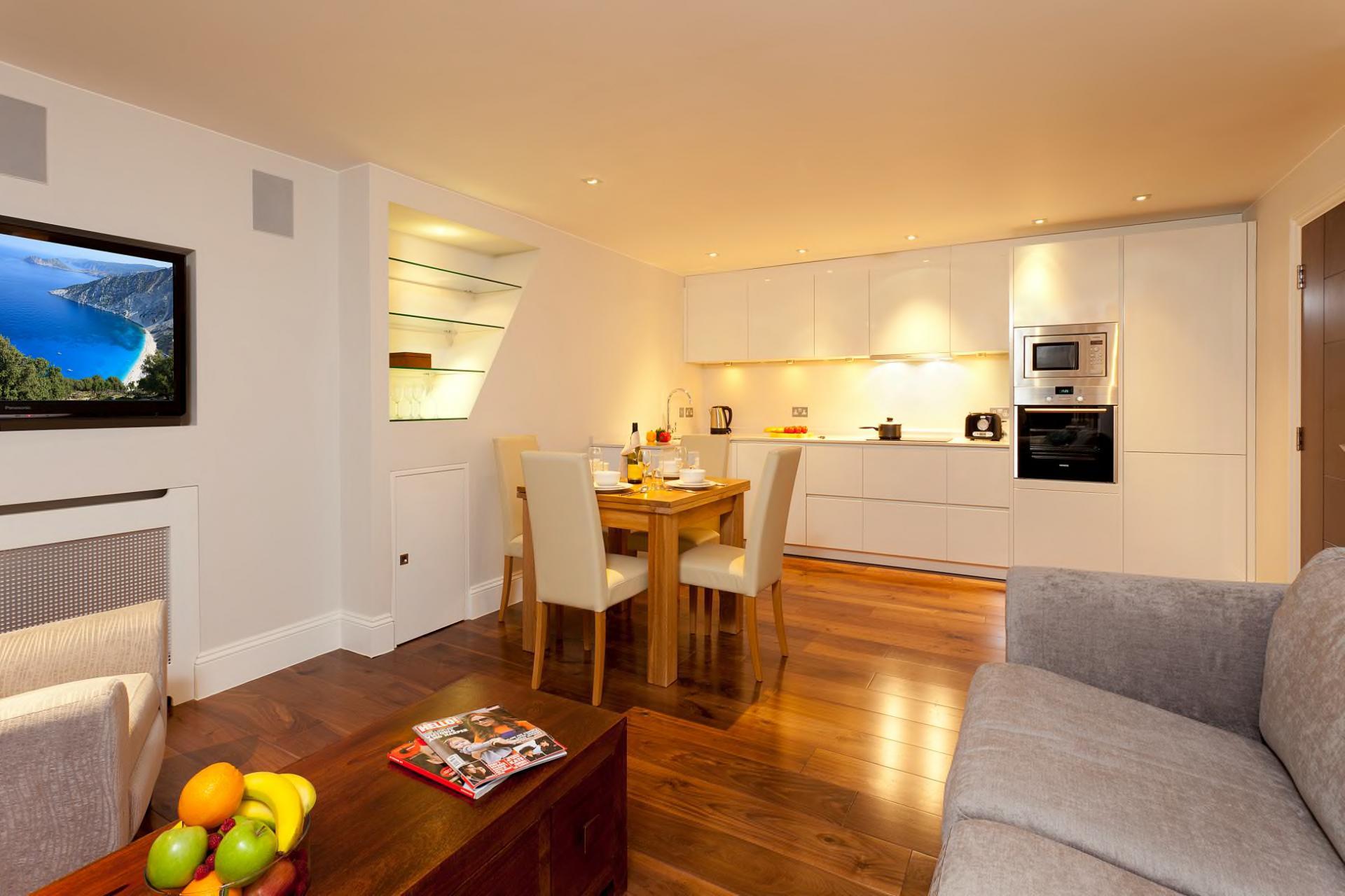 Open-plan at Tavistock Place Apartments, Fitzrovia, London - Citybase Apartments