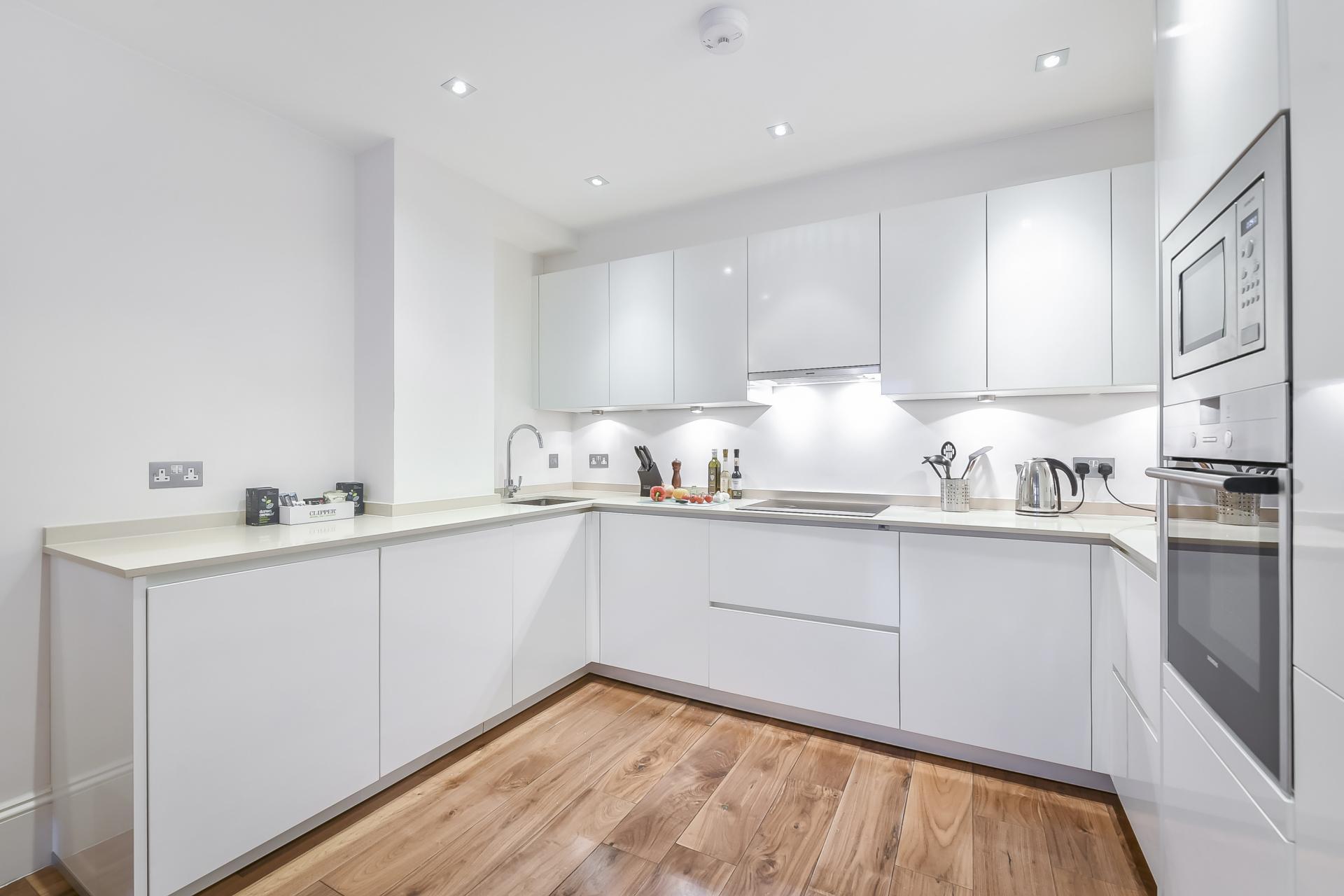 Kitchen at Tavistock Place Apartments, Fitzrovia, London - Citybase Apartments