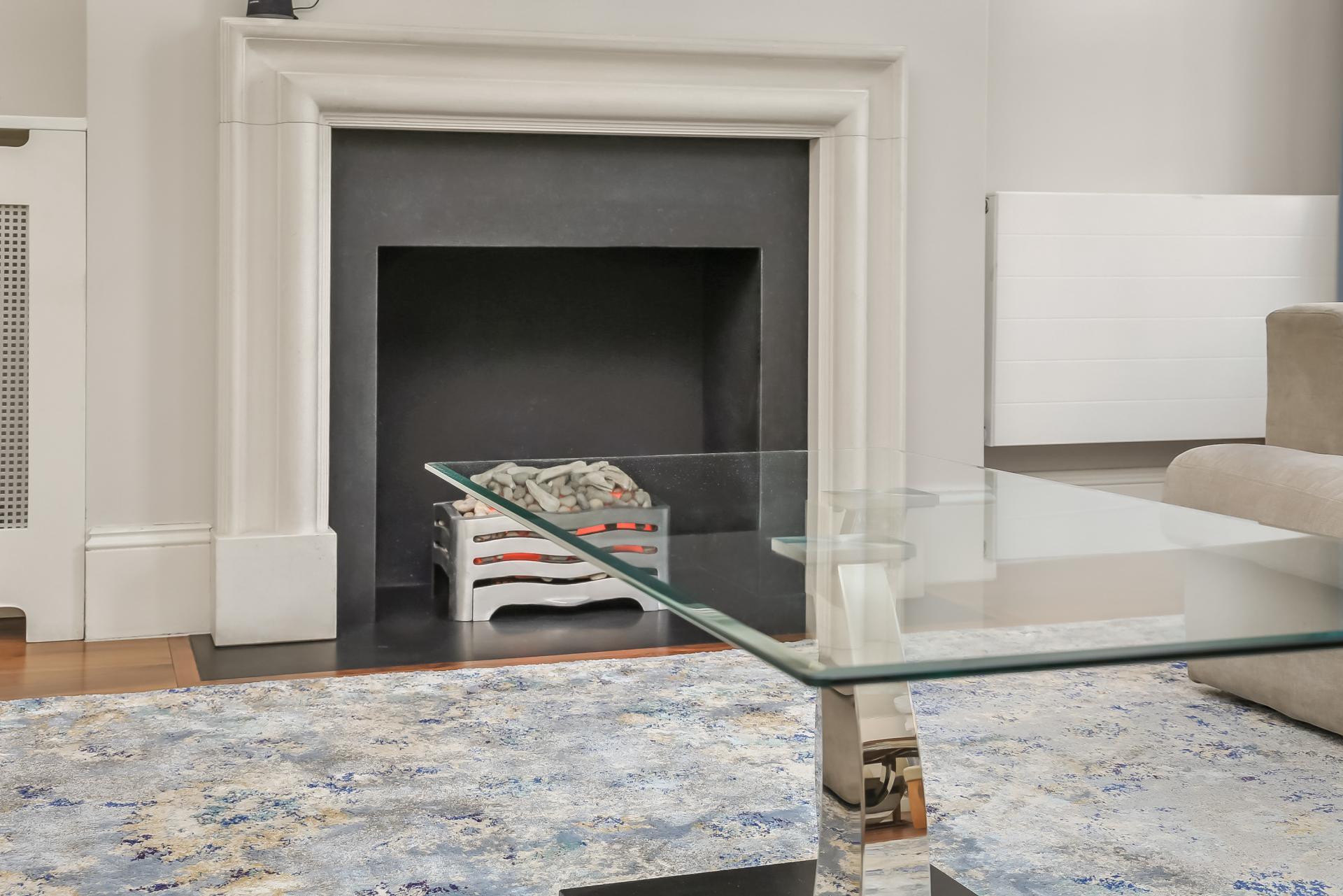 Fireplace at Tavistock Place Apartments - Citybase Apartments