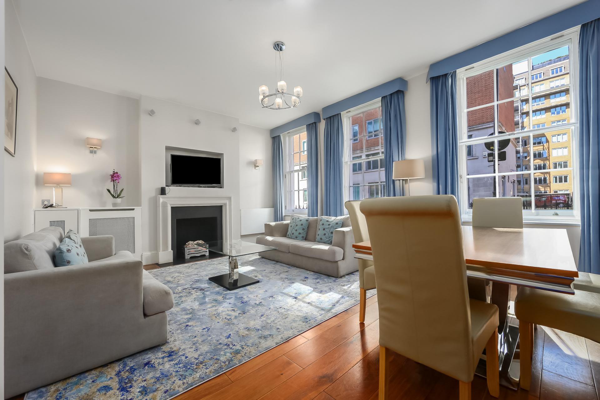 Living room at Tavistock Place Apartments - Citybase Apartments