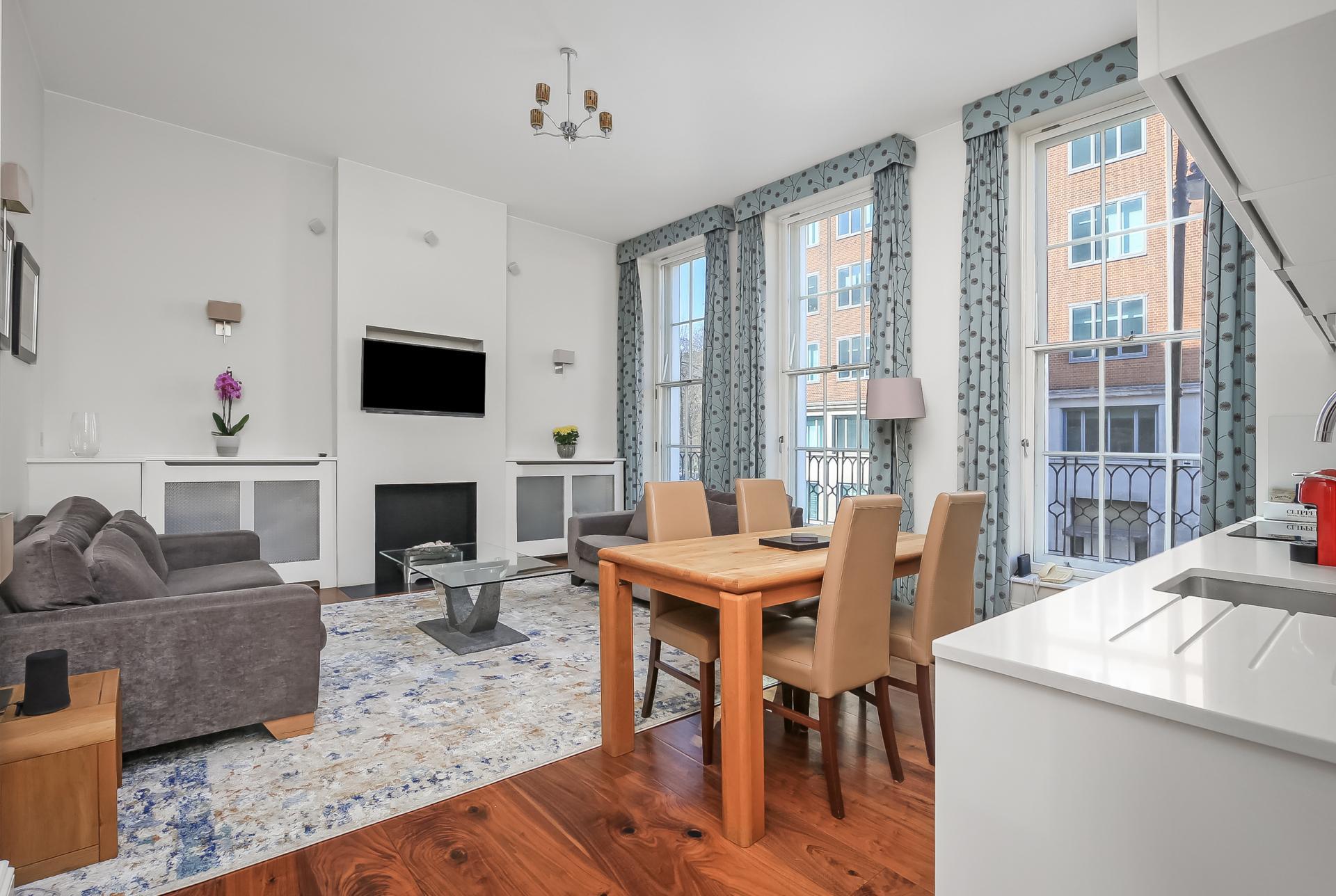 Open plan living at Tavistock Place Apartments - Citybase Apartments