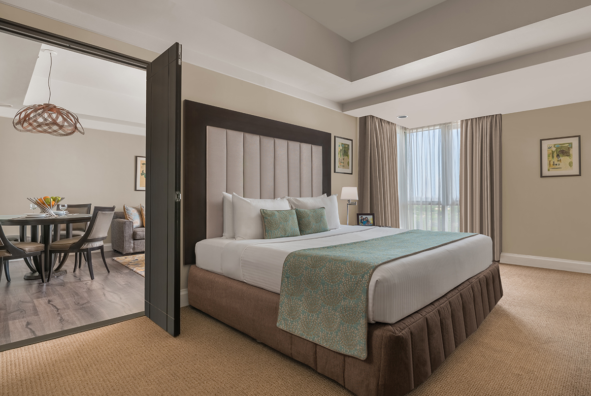 Huge bed at Somerset Millennium Apartments - Citybase Apartments
