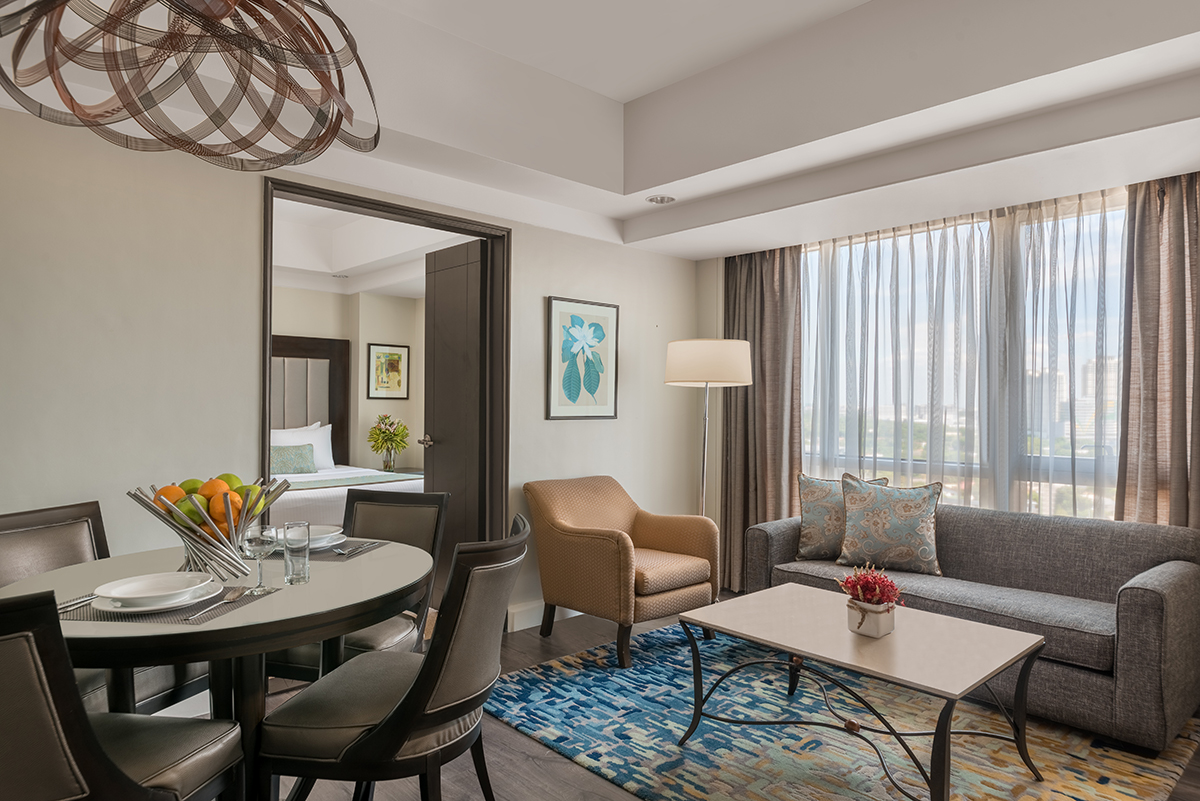 Living space at Somerset Millennium Apartments - Citybase Apartments