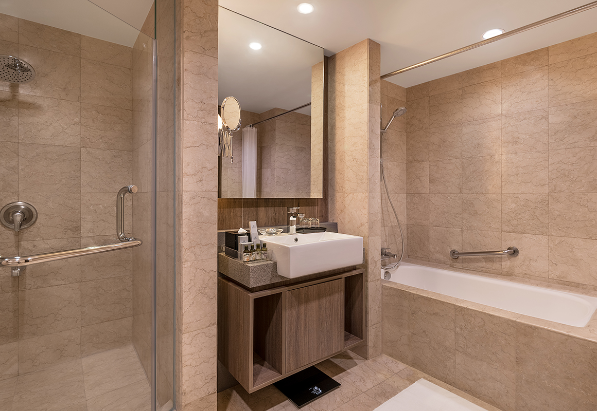 Shower and Bath at Somerset Millennium Apartments - Citybase Apartments