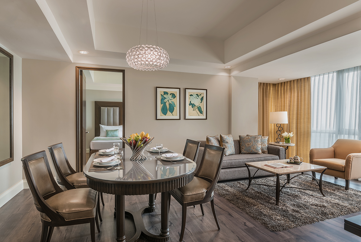 2Bedroom Living area at Somerset Millennium Apartments - Citybase Apartments