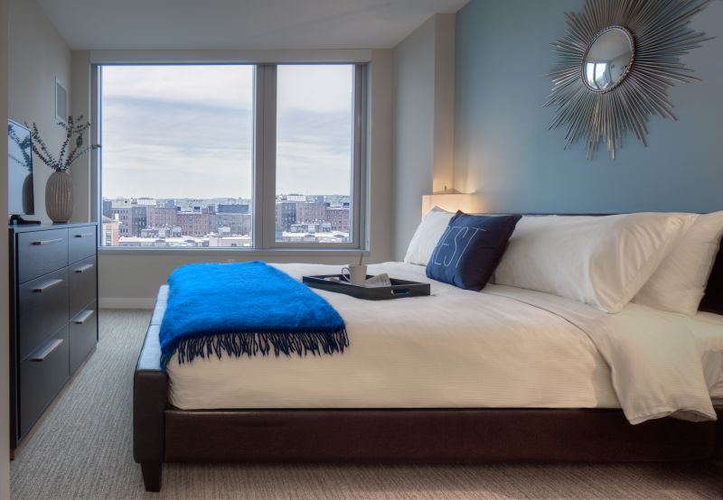 Bed at Fan Pier Apartments - Citybase Apartments
