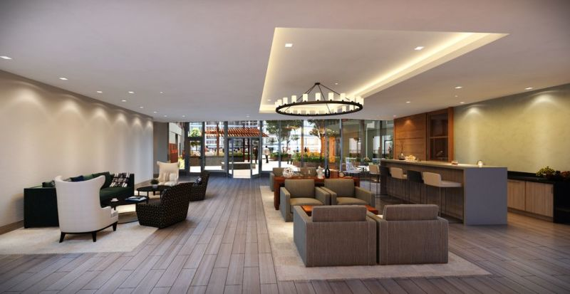 Lounge at Fan Pier Apartments - Citybase Apartments