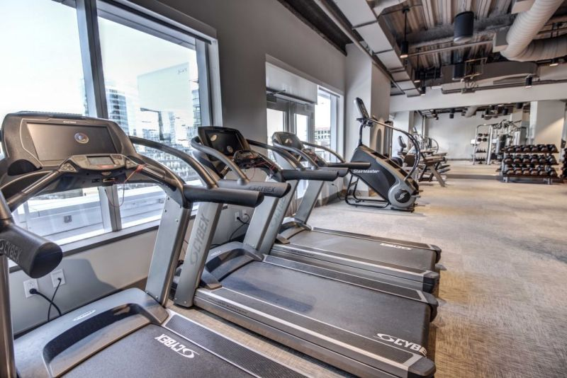 Fitness centre at Fan Pier Apartments - Citybase Apartments