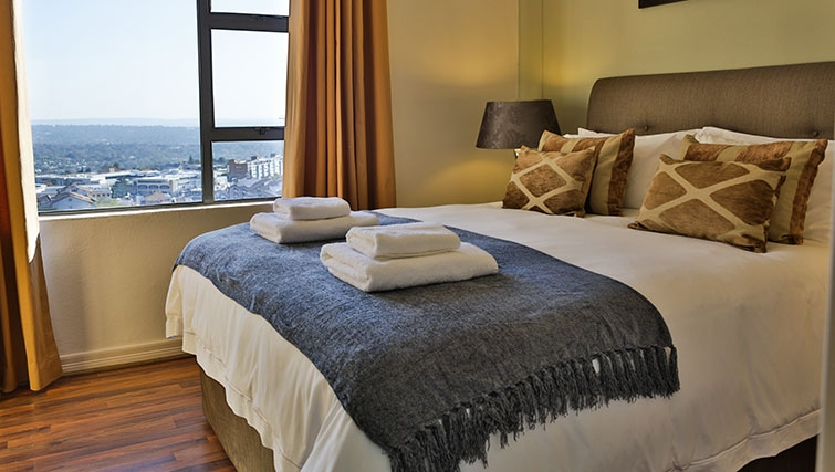 Stunning bedroom at Westpoint Executive Suites - Citybase Apartments