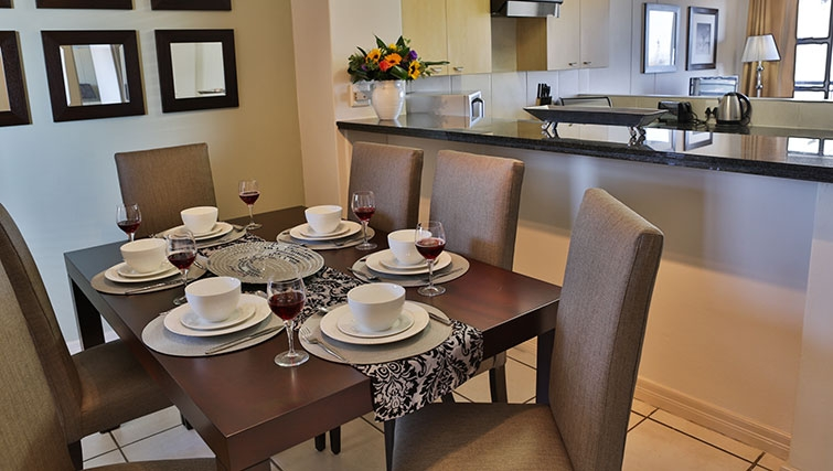 Stylish living area at Westpoint Executive Suites - Citybase Apartments