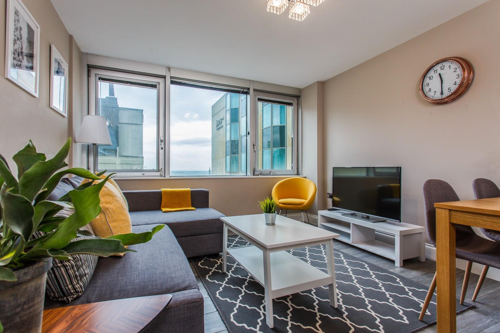Lounge at Brighton Lanes Apartments, Centre, Brighton - Citybase Apartments