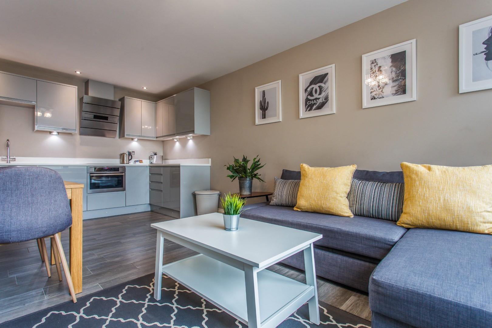 Sofa at Brighton Lanes Apartments, Centre, Brighton - Citybase Apartments