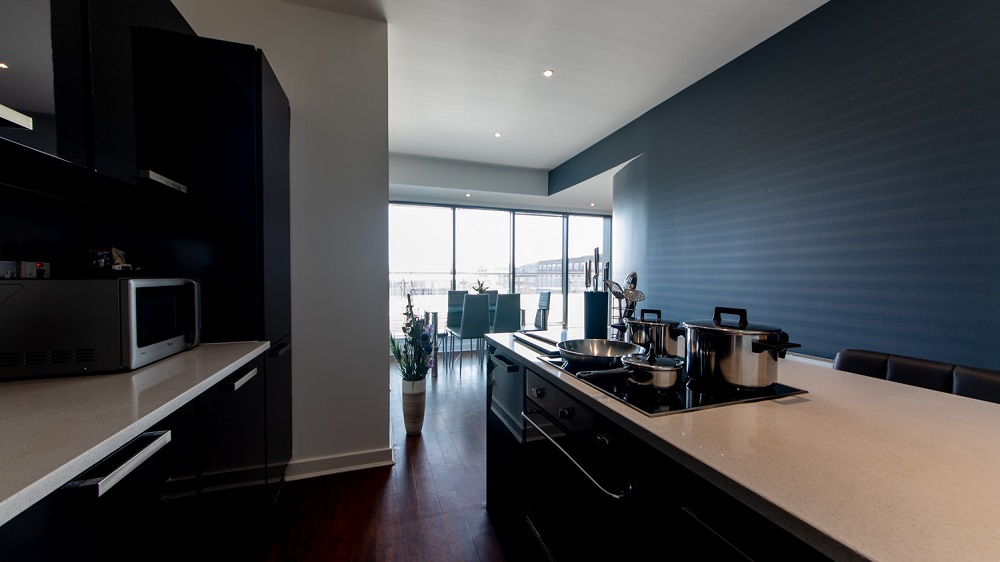 Kitchen facilities at The Spires Glasgow - Citybase Apartments