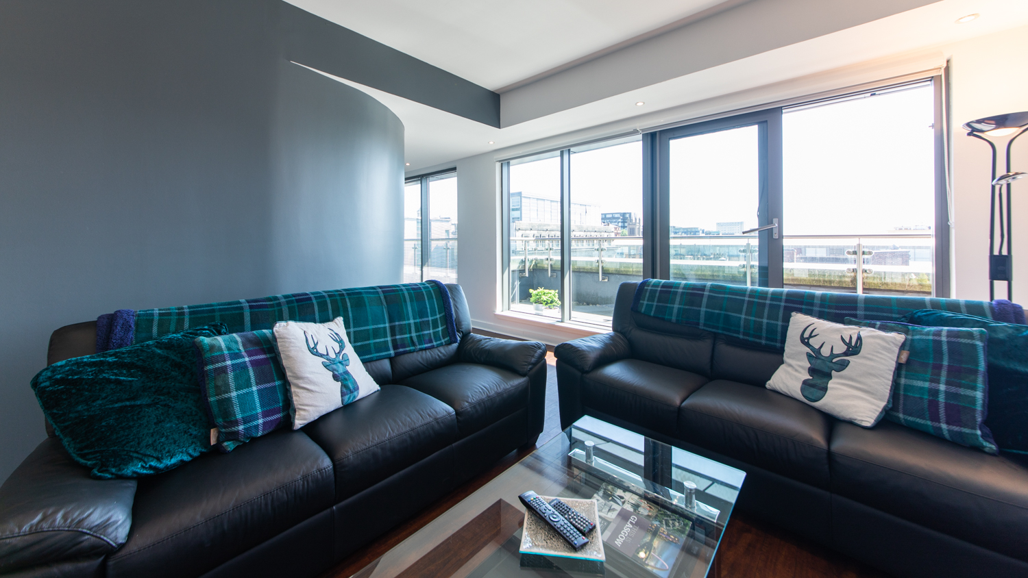 Bright living space at The Spires Glasgow - Citybase Apartments