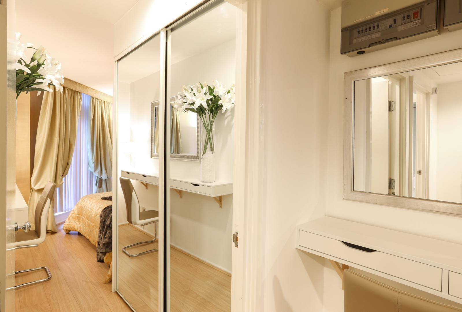 Mirror at 116 Point West Apartments, South Kensington, London - Citybase Apartments