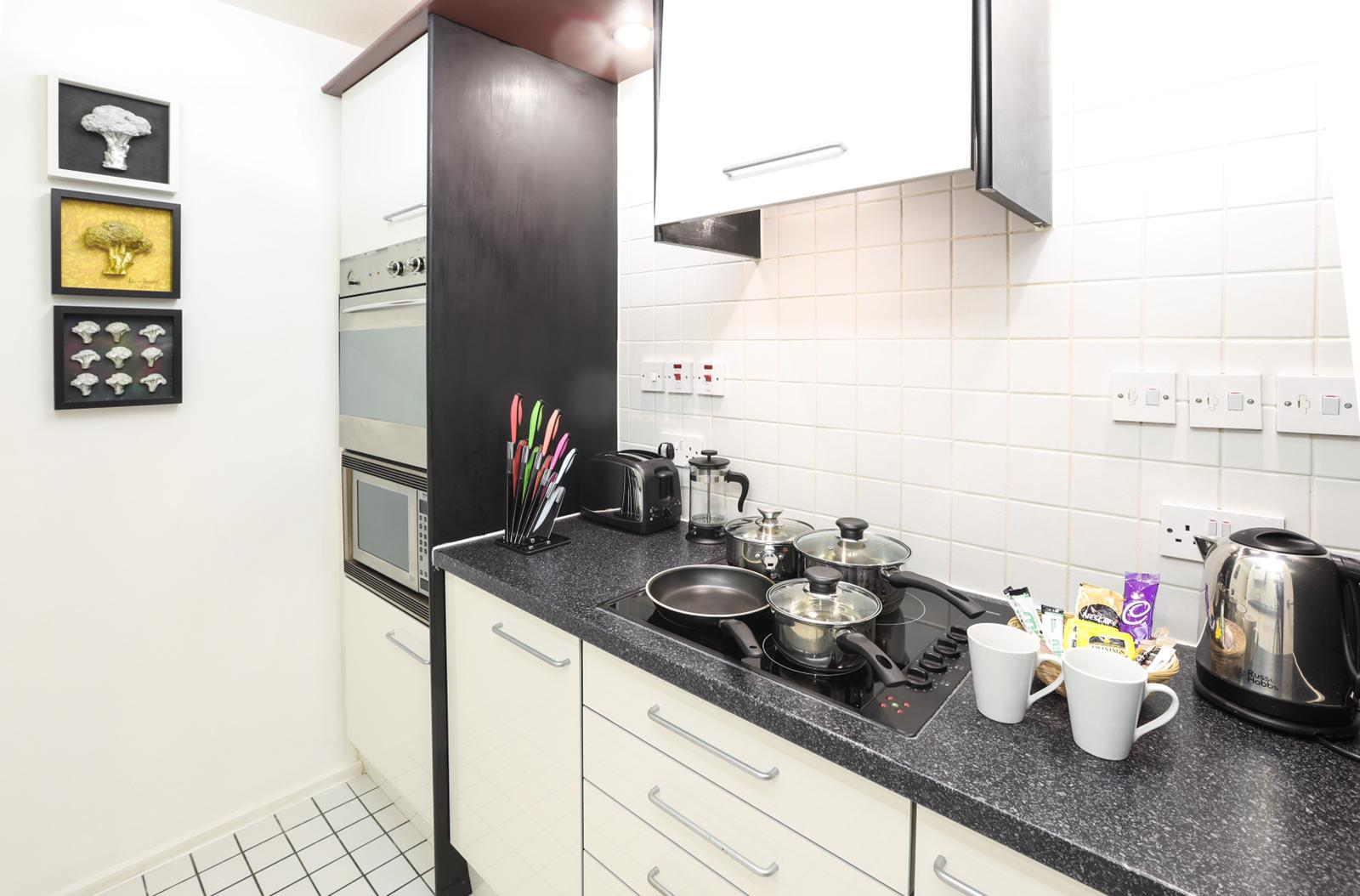 Kitchen at 116 Point West Apartments, South Kensington, London - Citybase Apartments