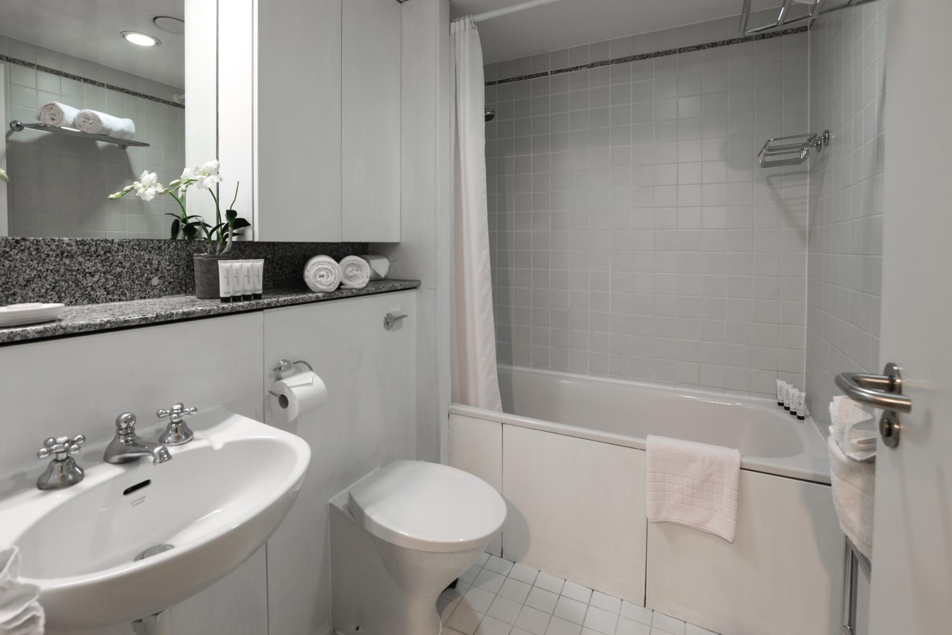 Modern bathroom at 116 Point West Apartments, South Kensington, London - Citybase Apartments
