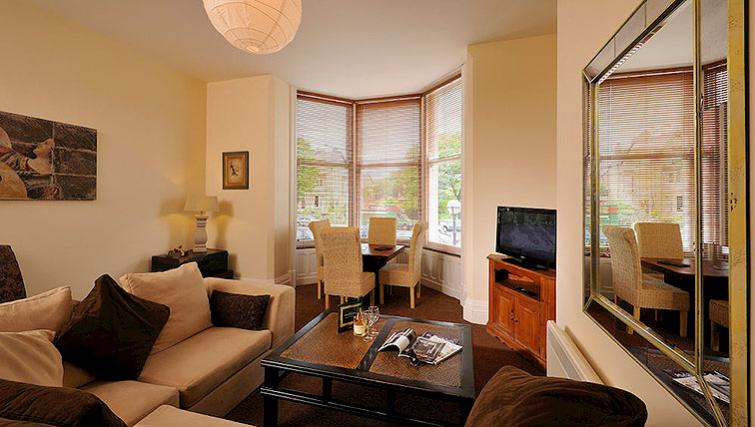 Stunning living area in Howarth House Aparthotel - Citybase Apartments