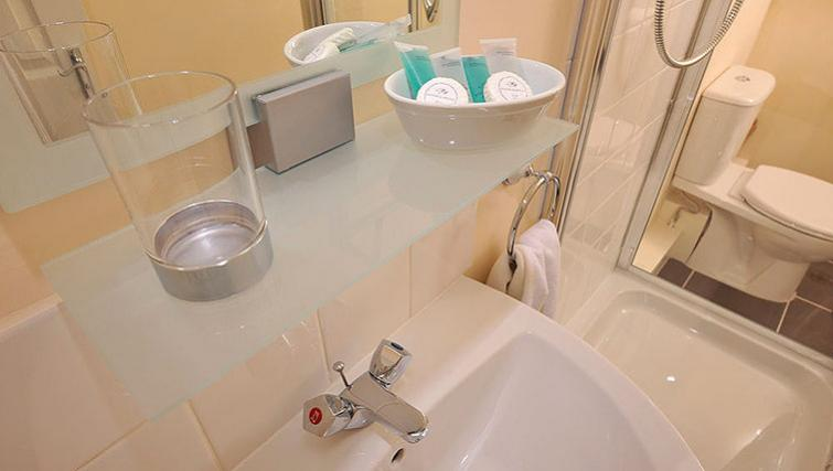 Compact bathroom in Howarth House Aparthotel - Citybase Apartments