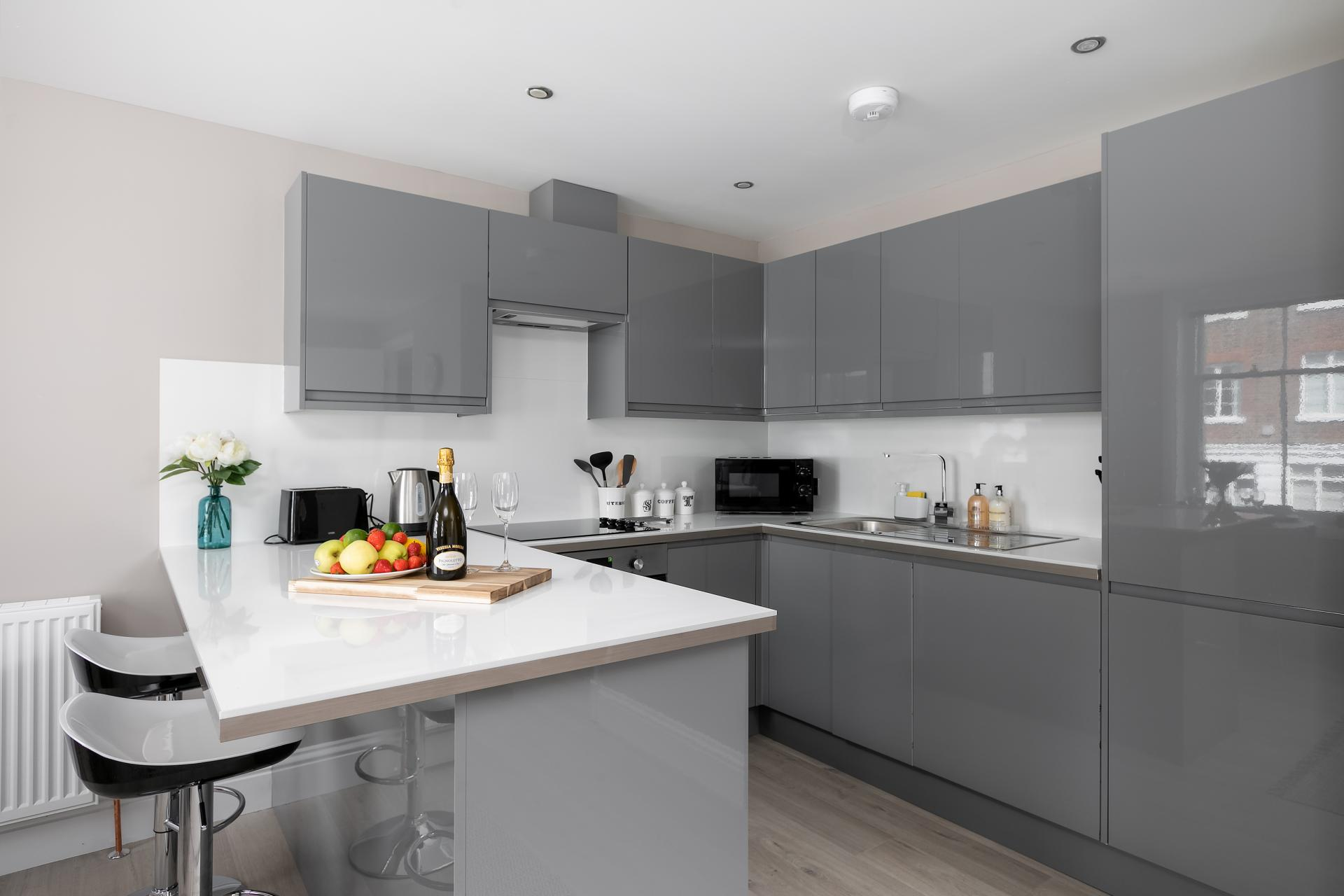 Kitchen at Western Road Apartments, Centre, Brighton - Citybase Apartments