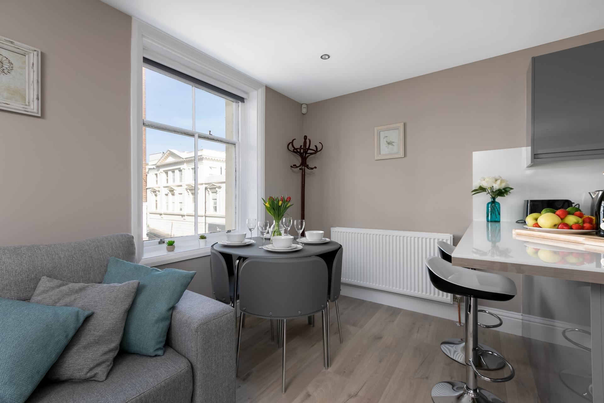 Lounge at Western Road Apartments, Centre, Brighton - Citybase Apartments