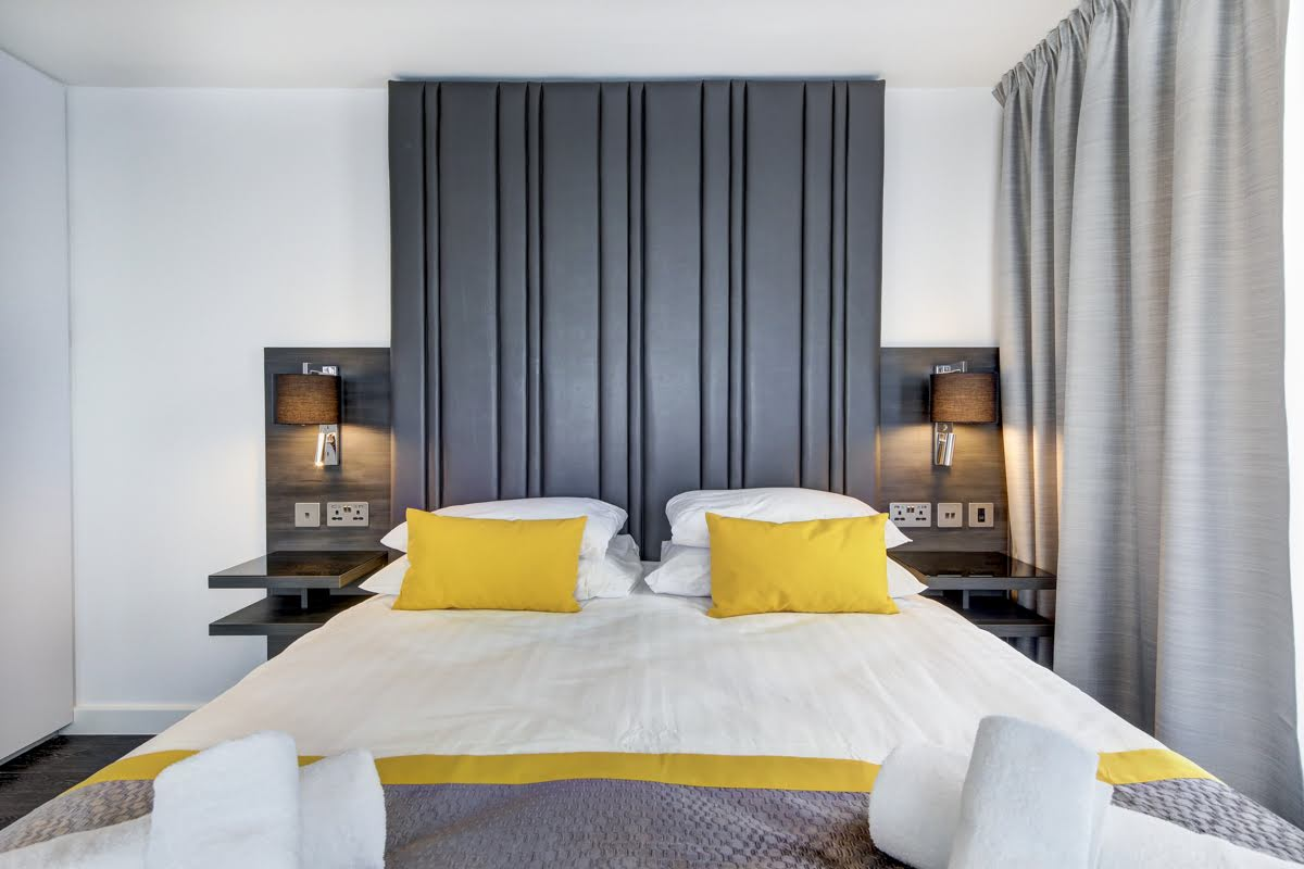 Bedroom at ExCel Dockside Apartments, Royal Docks, London - Citybase Apartments