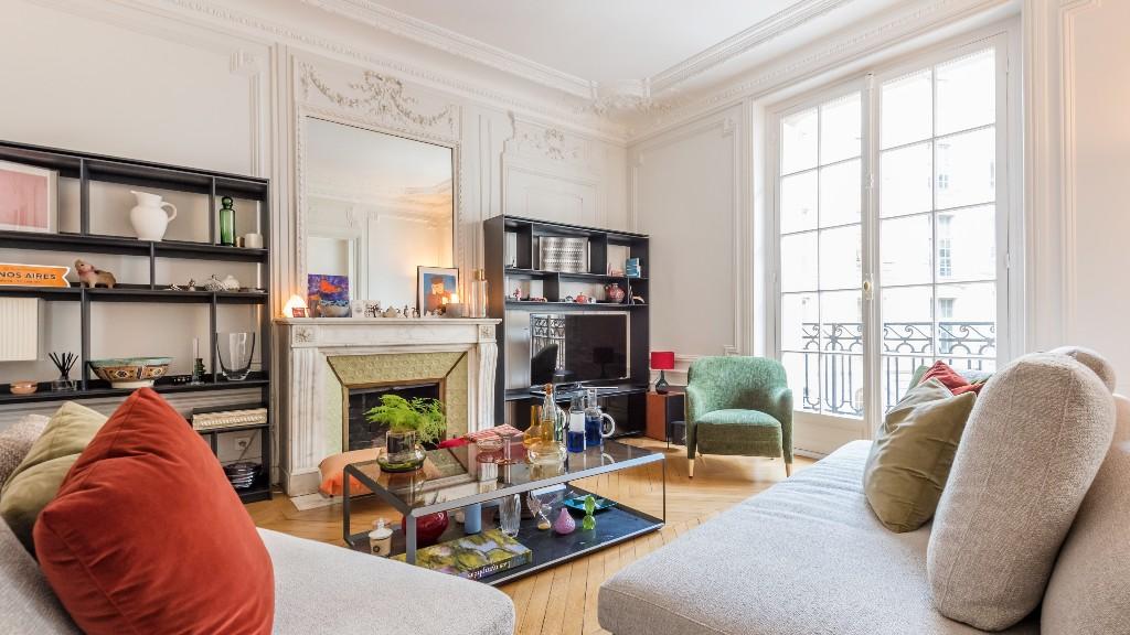 Fireplace at Four Saint Germain Apartments, Monnaie, Paris - Citybase Apartments