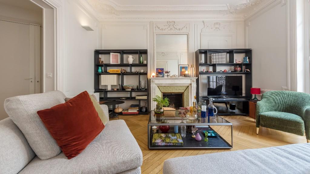 Living area at Four Saint Germain Apartments, Monnaie, Paris - Citybase Apartments