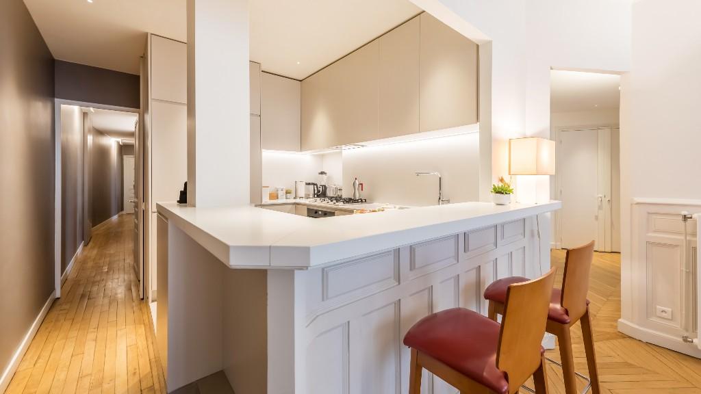 Breakfast bar at Four Saint Germain Apartments, Monnaie, Paris - Citybase Apartments