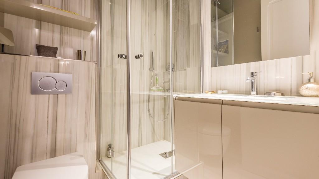 Shower at Four Saint Germain Apartments, Monnaie, Paris - Citybase Apartments