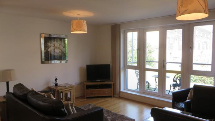 Cosy living area at The Vie Apartments - Citybase Apartments