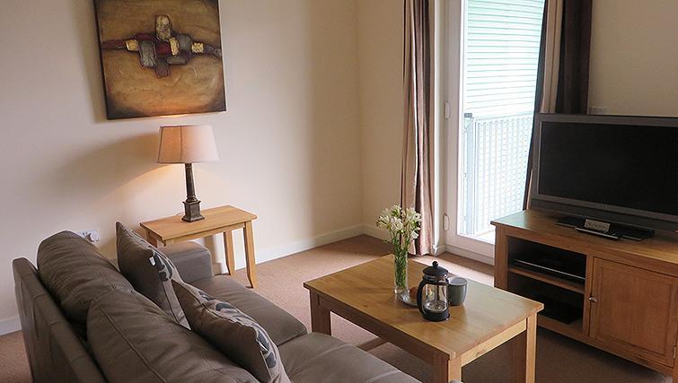 Modern living area at Warren Close Apartments - Citybase Apartments