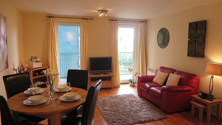 Open plan living area at Warren Close Apartments - Citybase Apartments