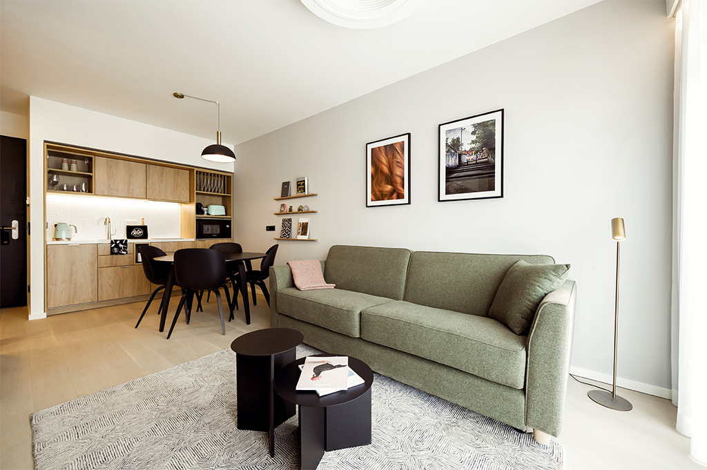 Living room at Wilde Aparthotels by Staycity Grassmarket, Centre, Edinburgh - Citybase Apartments