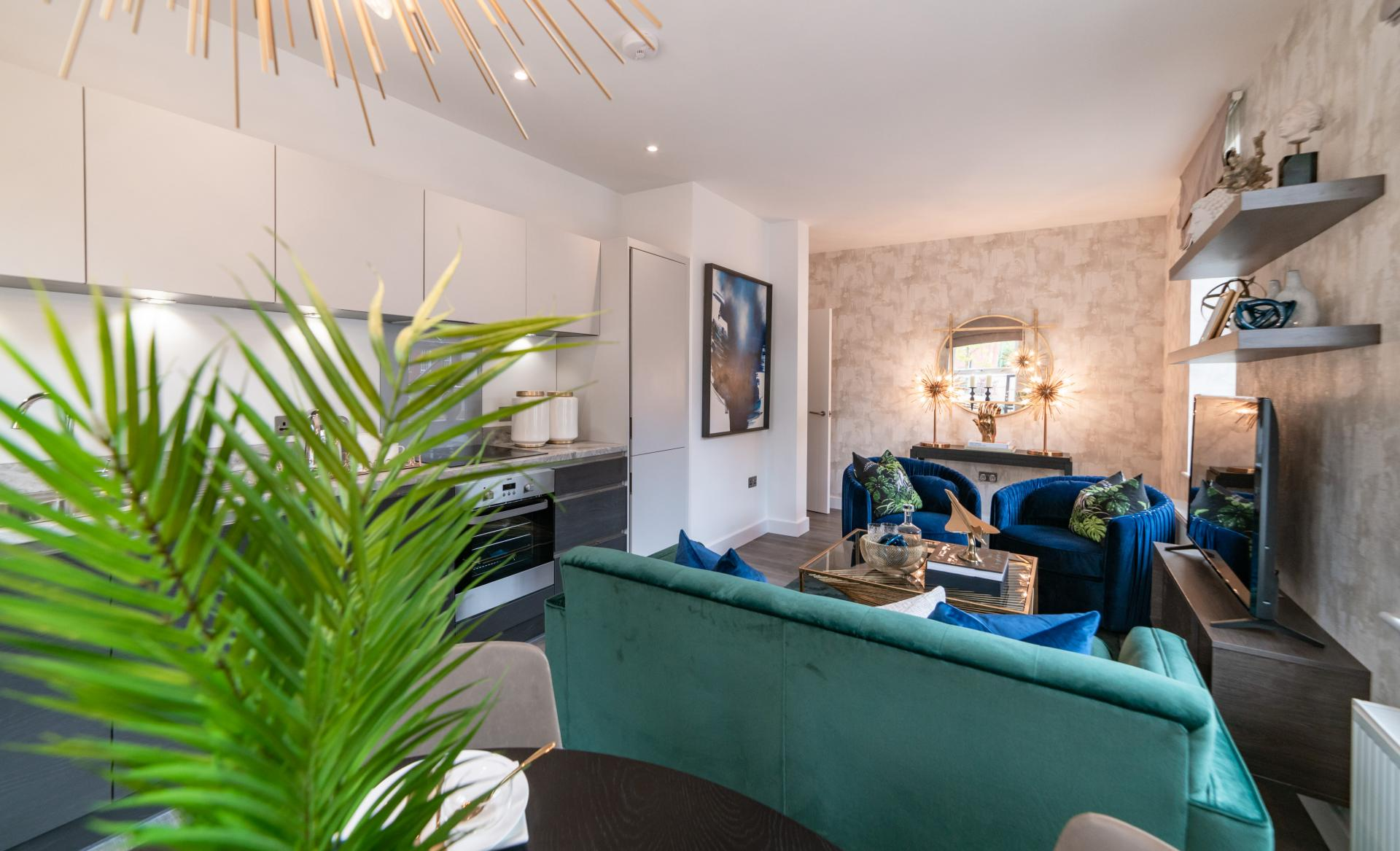Lounge at Assay Loft Apartments, Jewellery Quarter, Birmingham - Citybase Apartments