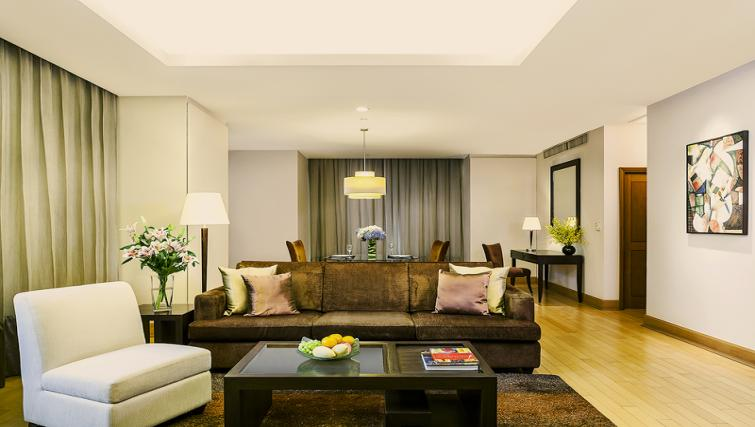 Living area at Ascott Sathorn Apartments - Citybase Apartments