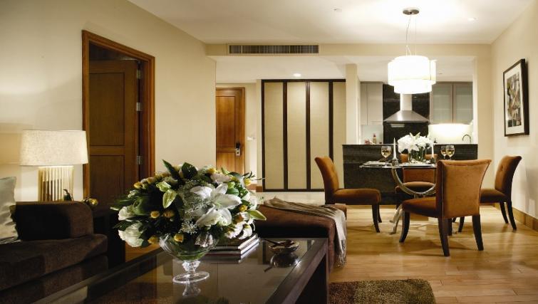 Living room at Ascott Sathorn Apartments - Citybase Apartments