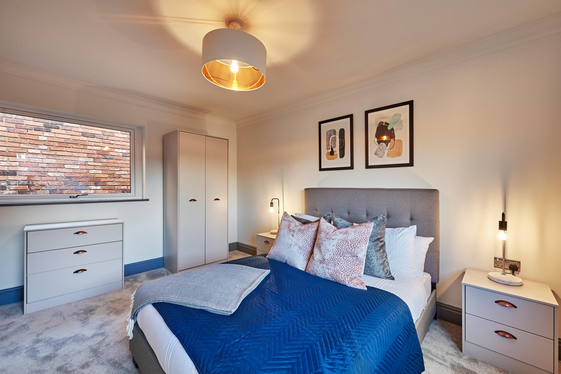 Bed at The St Paul's Residence, Jewellery Quarter, Birmingham - Citybase Apartments