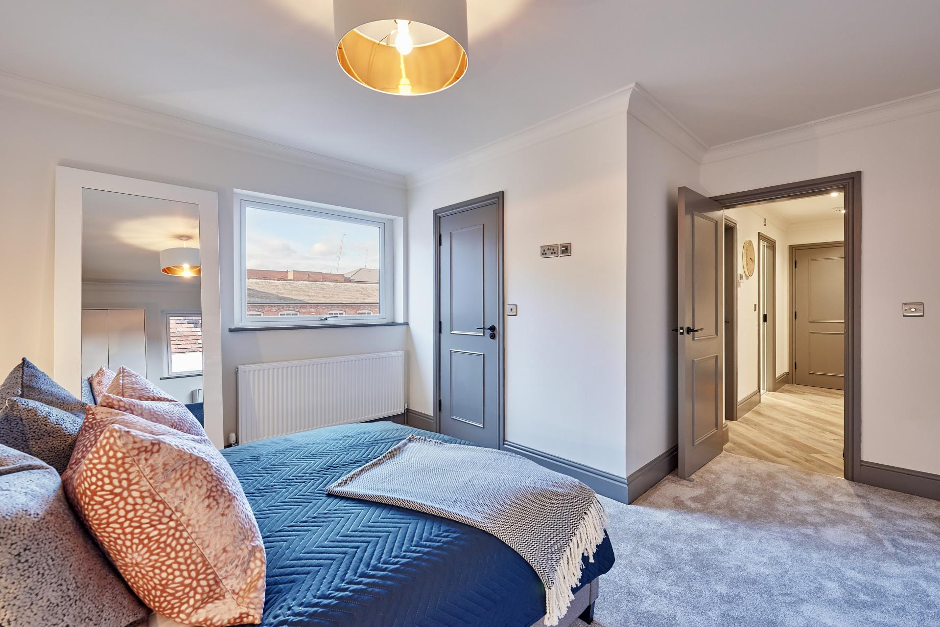 Master Bedroom at The St Paul's Residence, Jewellery Quarter, Birmingham - Citybase Apartments