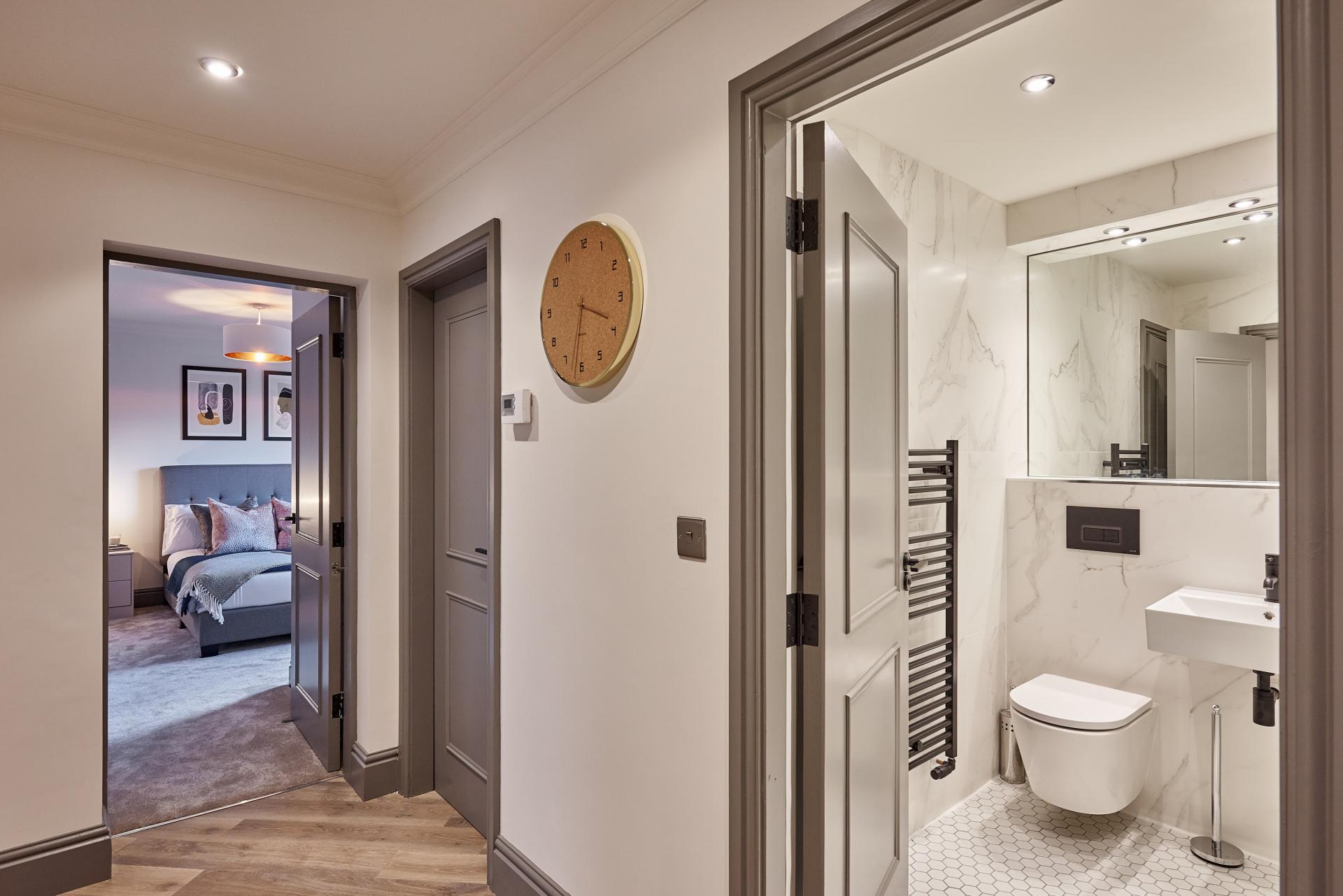 Corridor at The St Paul's Residence, Jewellery Quarter, Birmingham - Citybase Apartments