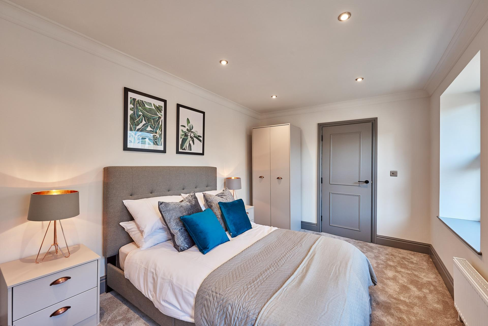 2nd Bedroom at The St Paul's Residence, Jewellery Quarter, Birmingham - Citybase Apartments