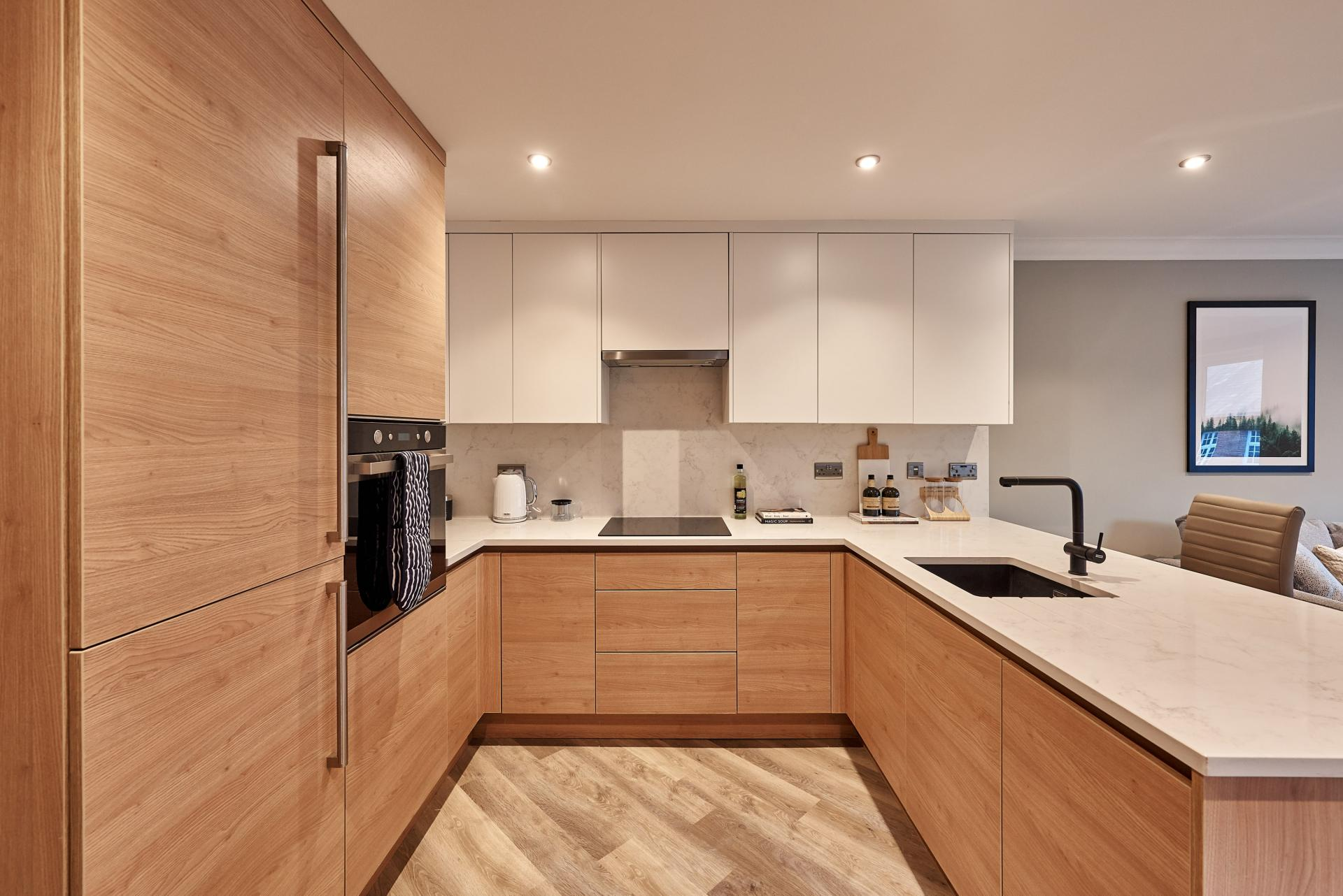 Kitchen at The St Paul's Residence, Jewellery Quarter, Birmingham - Citybase Apartments