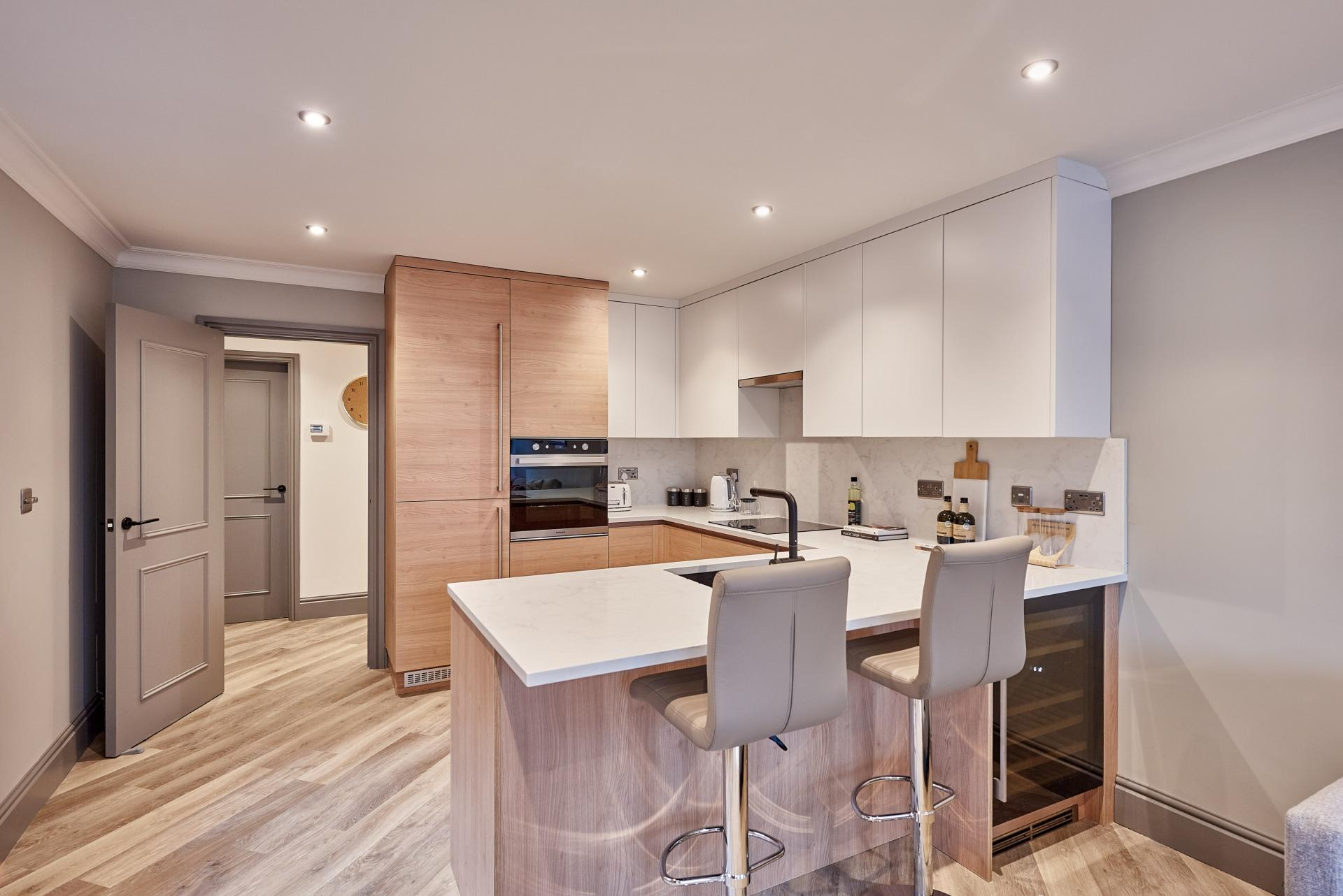 Breakfast bar at The St Paul's Residence, Jewellery Quarter, Birmingham - Citybase Apartments