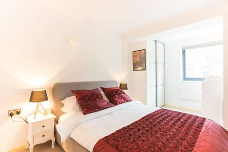 Bedroom at Marzell House Serviced Apartments, West Kensington, London - Citybase Apartments
